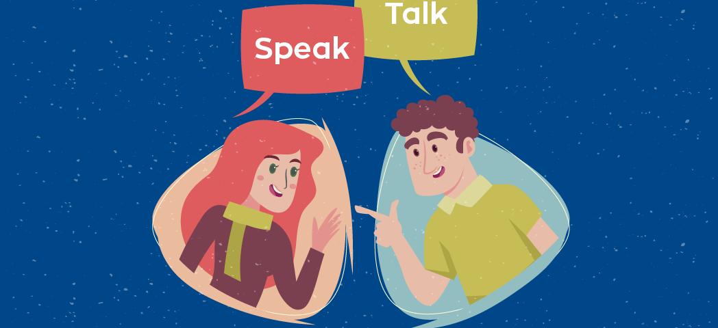 diferença entre speak e talk